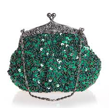 Bridal Party Makeup Bags Green Chinese Women U0027s Beaded Sequined Wedding Evening Bag Clutch