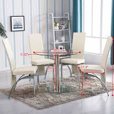 5 piece glass dining table set with 4 chairs walmart com