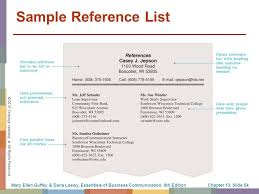 Sample Reference List For Resume by The Job Search Résumés And Cover Letters Ppt Download