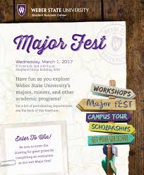 Weber State Campus Map by Majorfest Program2017 Jpg