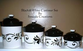 black u0026 white canister set by speeglecreations on etsy kitchen
