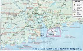 map of areas and surrounding areas map of guangzhou and surrounding areas