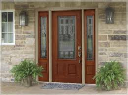 decor brown wood home depot entry doors with 3 lite for home