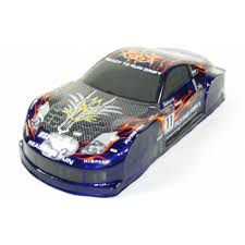 Nissan 350z Blue - 1 10 scale drift car spare body nissan 350z blue