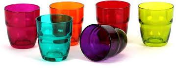 bicchieri colorati bormioli modulo color vassoio 6 bicchieri acqua cl 30 530460 bormioli