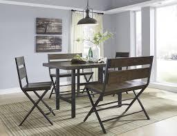 rectangular dining room counter table w pine veneers and metal