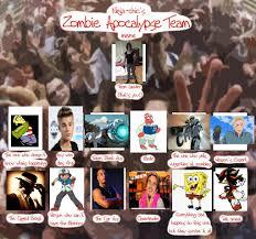 Zombie Team Meme - my zombie apocalypse team by romanosgirl666 on deviantart
