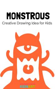 a monstrous creative drawing challenge for kids handmade kids art