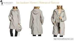 ilse jacobsen women s waterproof raincoat youtube