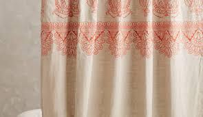 Ruffle Shower Curtain Uk - shower amazing fabric shower curtains beautiful natural linen