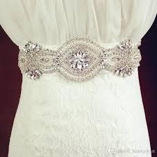 wedding dress belts best best selling crystals beaded white ivory satin wedding