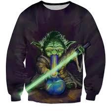 wars sweater stoner yoda wars sweater