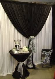 Black And Fuchsia Curtains Wedding Backdrops Backgrounds Decorations Columns