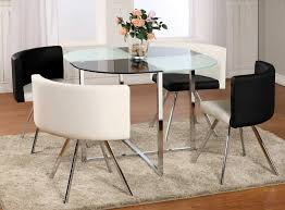 Glass Dining Room Table Set Dining Table Dining Room Glass Table - Black and white contemporary dining table