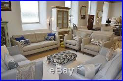 2 Seater Sofa And Armchair Jakob 3 Piece Suite Three Seater Sofa 2 Armchairs Grey Fabric Ex