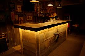 Pictures Of Wet Bars In Basements This Basement Barn Wood Wet Bar Was Custom Built On Site And Is
