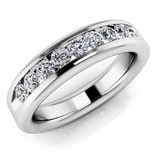 wedding rings white gold 0 72ct channel set diamond band wedding mens ring