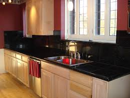 kitchen backsplash with black granite countertops interior design