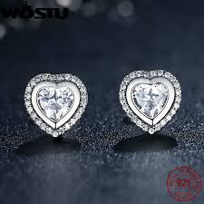 original earrings original 925 sterling silver sparkling stud earrings for women