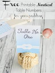 free printable nautical wedding table numbers