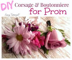 corsages and boutonnieres for prom diy corsage and boutonniere for prom everyday shortcuts