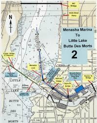 Lake Winnebago Map Fox Locks Menasha