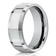 mens wedding rings white gold 6mm beveled edge men s 18k white gold designer wedding ring