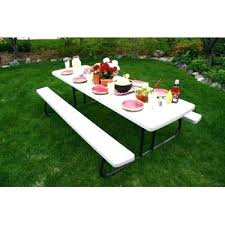 lifetime fold away picnic table 8 foot folding table costco lifetime tables nice folding table