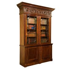 Ornate Display Cabinets Mahogany Cabinet Bookcase With Ornate And Finely Carved Frieze At