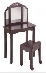 Vanity Chair Stool Furniture Sweet Bedroom Design Ideas Using Dark Brown Makeup