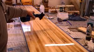 How Long Is A Shuffleboard Table by Shuffleboard Slab Finish Applied Youtube