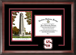 of south carolina diploma frame carolina state bell tower lithograph diploma