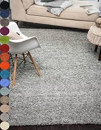 Solid Gray Area Rug by Amazon Com A2z Rug Cozy Shaggy Collection 5x8 Feet Solid Area Rug