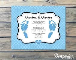 grandparents gift nana papa grandma grandpa newborn footprint