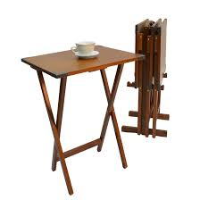 folding oversized wood tray table in espresso furniture vintage tv tray table bath and beyond furinno easi
