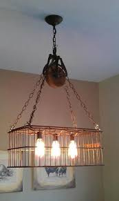 beautiful well pulley lamp with mason jars id lights pulley light