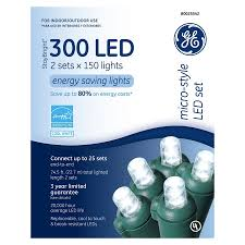 shop ge 300 count white led string lights energy