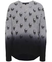 skull sweater 360 sweater skull print ombre jumper available at jules b