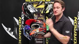 scorpion motocross helmets scorpion vx 15 motocross helmet youtube