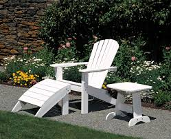Patio Chair With Ottoman Furniture Natural Teak Adirondack Chairs With Ottoman For Outdoor