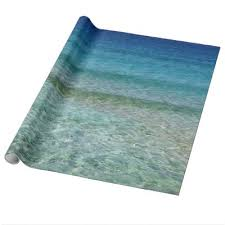 clear gift wrap fresh blue water wrapping paper zazzle