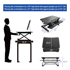 Sit To Stand Desk by Standing Desk Converters Classic Series Flexispot