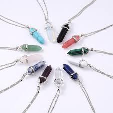 quartz necklace aliexpress images 2016 women fashion vintage pendants bullet crystal necklace jpg