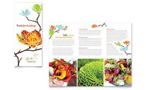 flower shop tri fold brochure template word u0026 publisher
