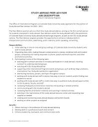 study abroad advisor cover letter letter idea 2018