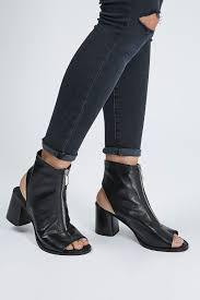 nappa zip front shoe boots shoes topshop