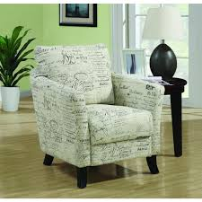 Fabric Chairs Living Room Monarch Specialties White Fabric Arm Chair I 8007 The Home Depot