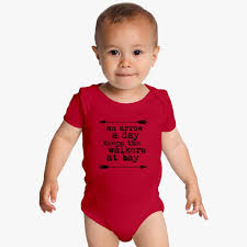bay bay baby an arrow a day keeps the walkers at bay baby onesies kidozi