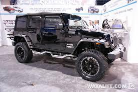 2011 jeep wrangler fender flares 2013 sema lund black jeep jk wrangler 4 door