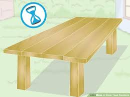 How To Protect Outdoor Wood Furniture by How To Stain Teak Furniture 12 Steps With Pictures Wikihow
